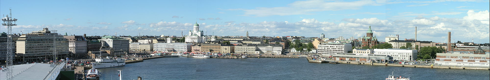 Et panorama over Helsinki