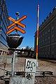 Helsinki harbour rail, Ruoholahti level crossing.jpg