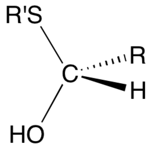 Hemithioacetal - Hemithioacetal functional group
