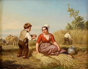 Hendrick Joseph Dillens - The Bird's Nest, 1855