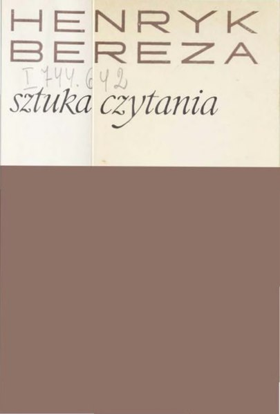 File:Henryk Bereza - Sztuka czytania.djvu