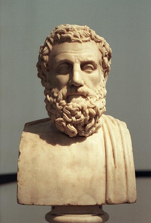 Bust of Aeschylus. 1st Century BCE Roman copy of 4th Century BCE original. (Wikimedia Commons)