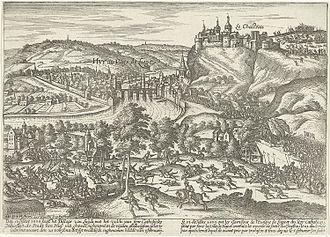 Siege of Huy (1595) - Image: Herovering van Hoei