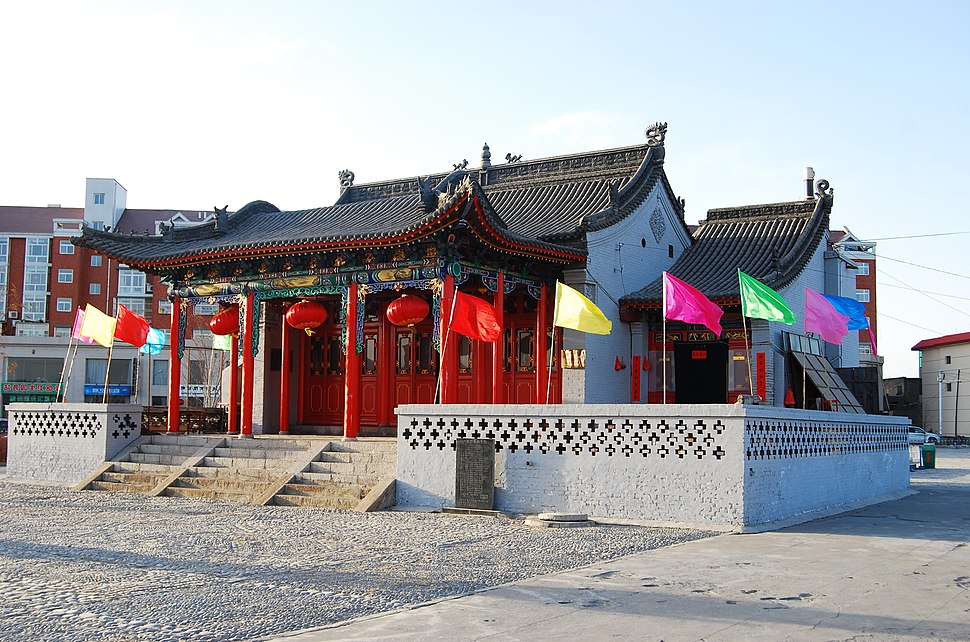 Heshen temple in Hequ, Xinzhou, Shanxi, China
