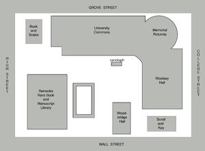 Hewitt Quadrangle - Figure-ground diagram of Hewitt Quadrangle