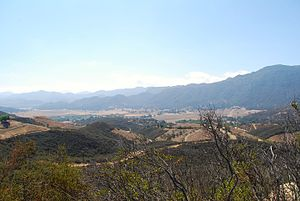 Ventu Park - Hidden Valley and the Santa Monica's as seen from atop Angel Vista.