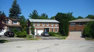 Hillcrest Village Neighbourhood in Toronto, Ontario, Canada