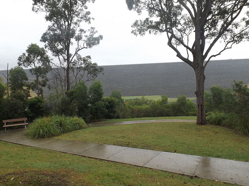 view of Hinze dam in Advancetown, Gold Coast QLD