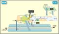 Hirabari station map Nagoya subway's Tsurumai line 2014.png
