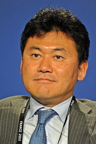 Rakuten - Hiroshi Mikitani, founder and CEO of Rakuten