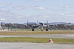 Historical Aircraft Restoration Society (VH-EAG) Lockheed Super Constellation 'Connie' taxiing at Wagga Wagga Airport (2).jpg