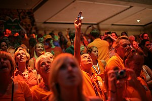 2012 Holland Heineken House - People are watching an Olympic event
