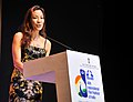 Hollywood actress, Michelle Yeoh addressing at the closing ceremony of the 44th International Film Festival of India (IFFI-2013), at Panaji, Goa on November 30, 2013.jpg