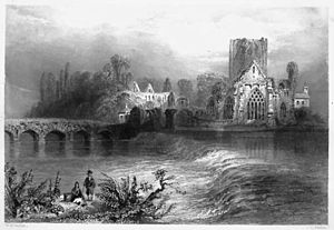 Holy Cross Abbey - View from 1841