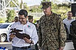 Honduran President recognizes SPMAGTF-SC Marines for accomplishments in Honduras 161110-M-NX410-022.jpg