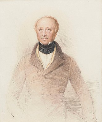 Horace Smith (poet) - Portrait of Horace Smith by an unknown artist watercolour, circa 1840