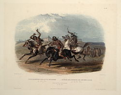 Horse racing of the Sioux (Karl Bodmer)