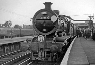 Horsham railway station - RCTS Sussex Rail Tour in 1962