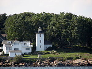 Hospital Point Range Front Light - Image: Hospital Point from Beverly Harbor