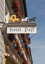 File:Hotel Post, Inn sign, Murnau, Bavaria, Germany.jpg