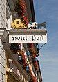 Hotel Post, Inn sign, Murnau, Bavaria, Germany.jpg