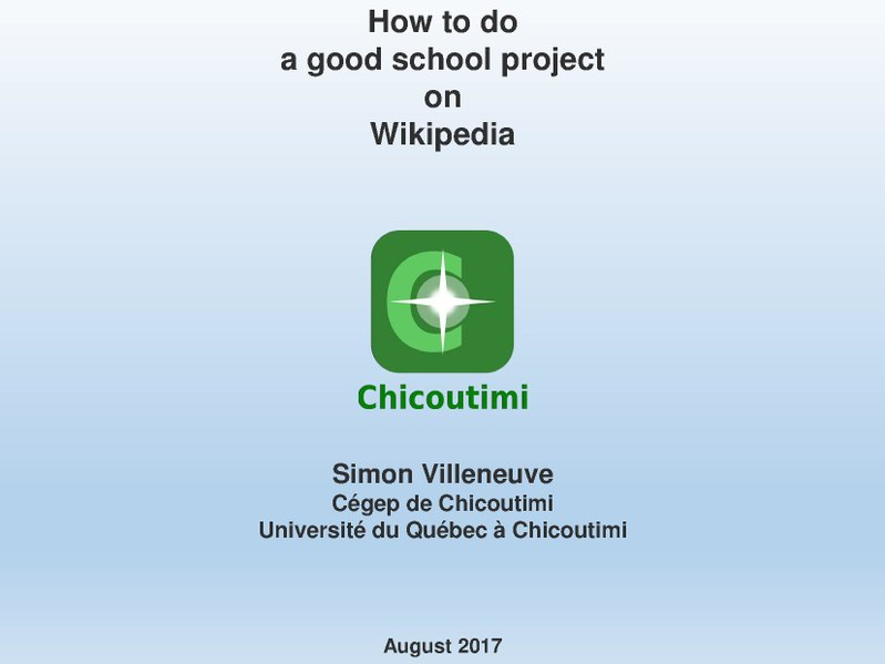 File:How to do a good school project on Wikipedia.pdf