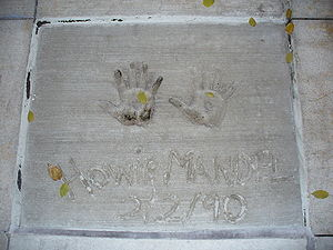 Howie Mandel - Hand prints of Mandel in front of Hollywood Hills Amphitheater at Disney's Hollywood Studios theme park