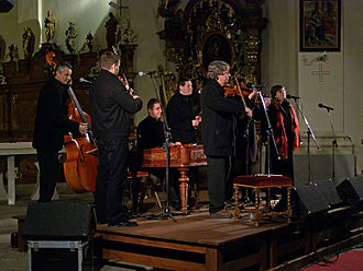 Moravian traditional music - The Moravian folk ensemble Hradišťan at the Břevnov Monastery in Prague