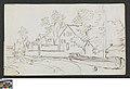Huizen langs een rivier, circa 1811 - circa 1842, Groeningemuseum, 0041574000.jpg