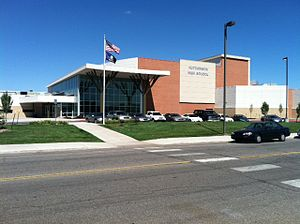 Hutchinson High School (Kansas) - The Main Entrance of Hutch High