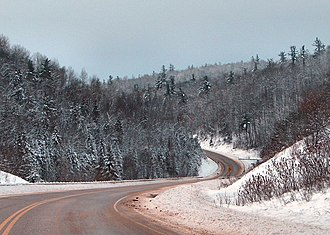 Ontario Highway 41 - Highway 41 winding through the Madawaska Highlands in Renfrew County