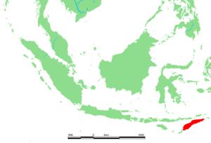 Lagekarte von Timor