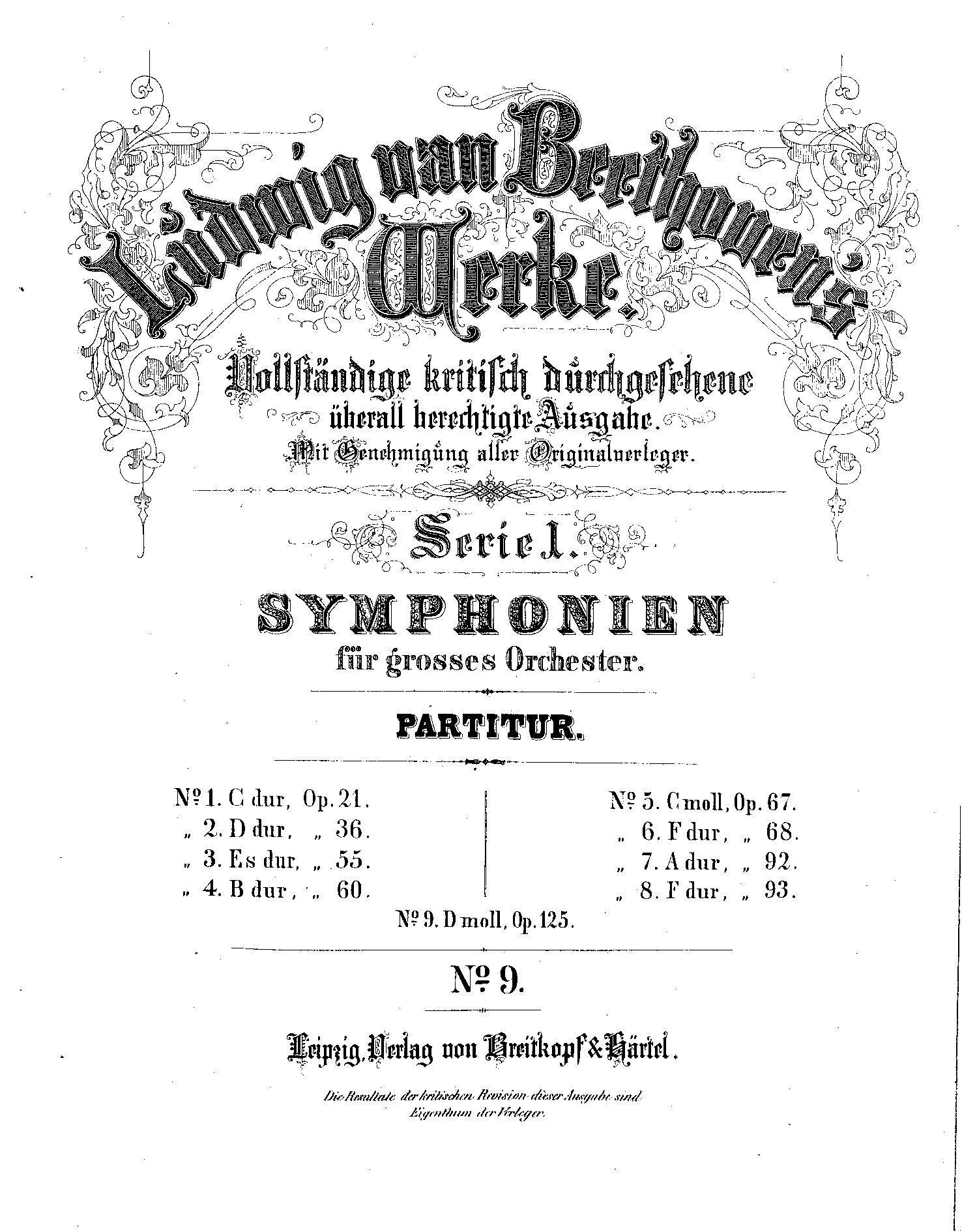 FileIMSLP61850PMLP01607Symphony No9 Op125 Beethoven Ludwig – Beethoven Worksheet