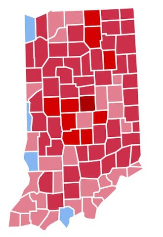 1988 United States presidential election in Indiana - Image: IN1988