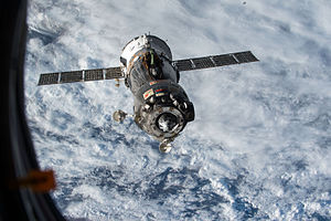 Soyuz TMA-15M - Soyuz TMA-15M undocks from the ISS, 11 June 2015.