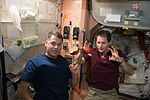 ISS-50 Shane Kimbrough and Thomas Pesquet with apples in the Unity node.jpg
