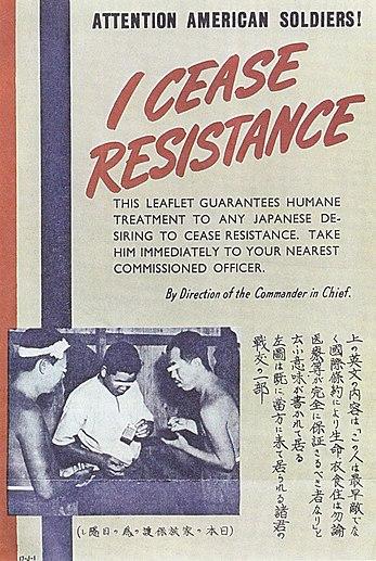 I cease resistance