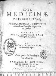 Idea medicinae philosophicae, fundamenta continens totius doctrinae Paracelsicae, Hippocraticae et Galenicae....