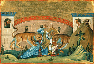 Image result for St. ignatius and the lion