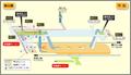 Imaike station map Nagoya subway's Higashiyama line 2014.png