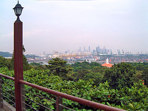 Sentosa - View from Imbiah Lookout to Mainland Singapore
