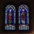 Immaculate Conception Church (Columbus, Ohio) - stained glass, Sts. John & Luke.jpg