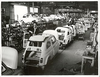 Otahuhu - An assembler at the Fiats Assembly Works, Otahuhu (1966)