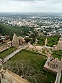 In this image areal view of chittorgarh fort as well as city which is taken from top of vijay sthambh.jpg