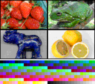 Palette (computing) - Image: Indexed Color Sample (Mosaic)