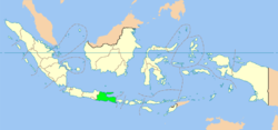 Location of East Java in Indonesia
