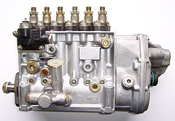 Inline diesel injection pump