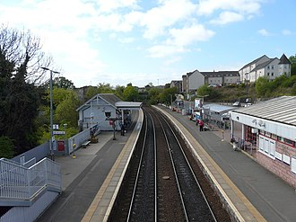 Inverkeithing railway station - Looking south from the station footbridge