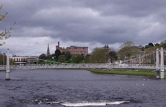 River Ness - Inverness Castle and River Ness upstream of the Infirmary Bridge
