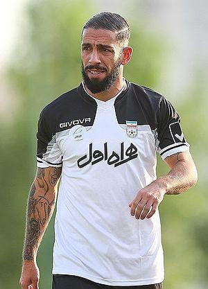 Ashkan Dejagah - Dejagah in Iran training in August 2016